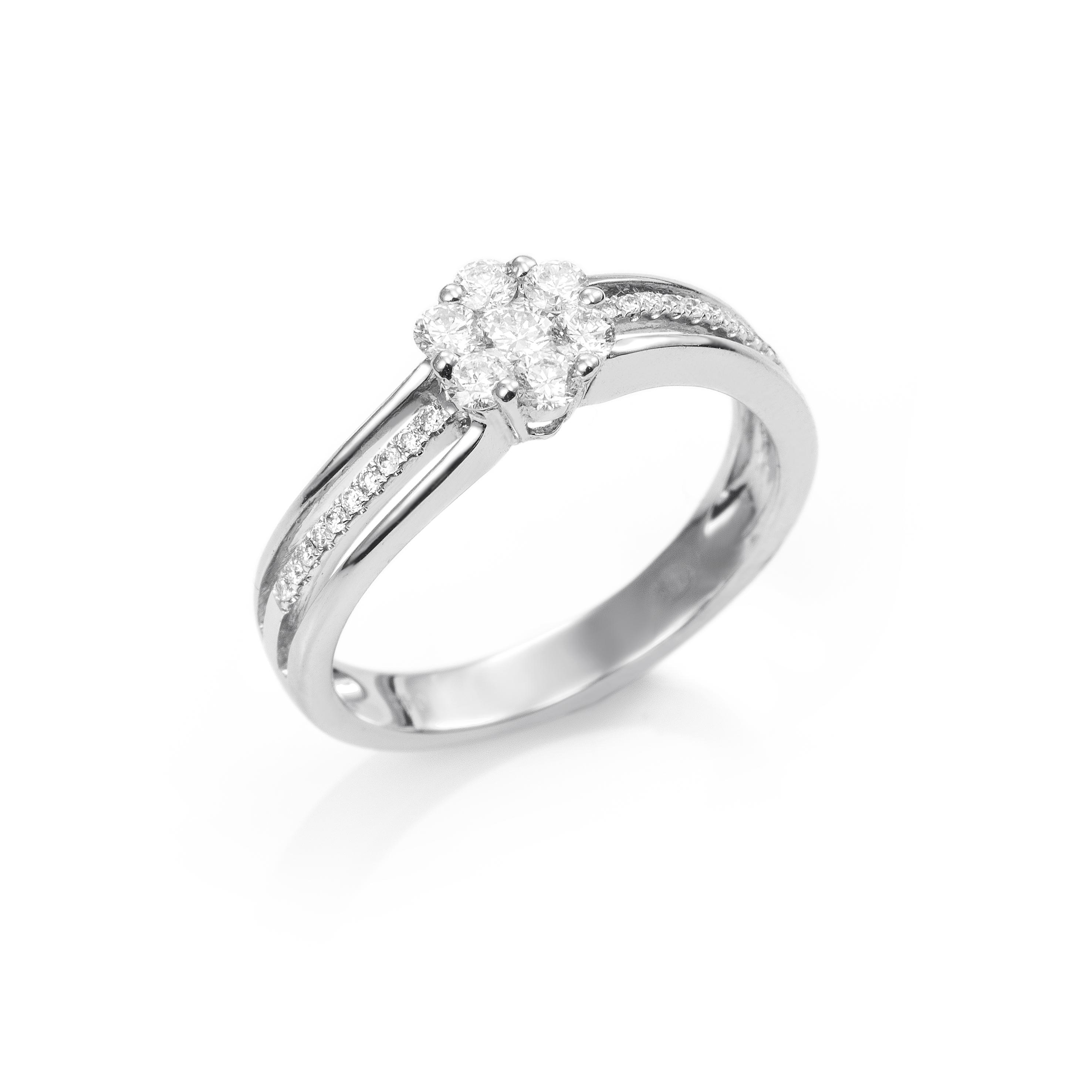 268edf799526 Anillo Oro blanco con Diamantes - Girbes Joyas