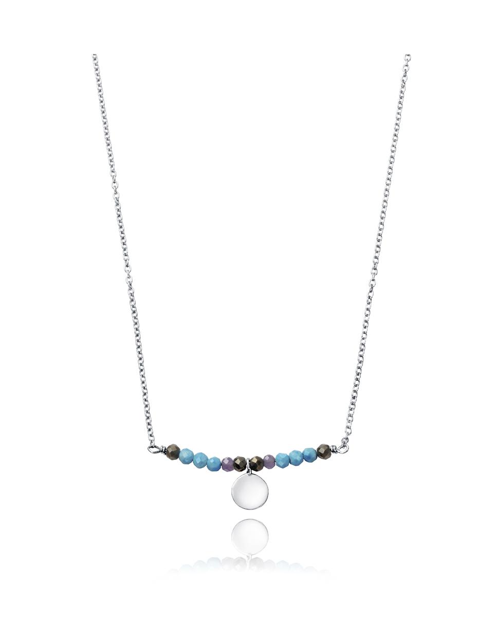 e2ba95e32b8a VICEROY Collar de Plata con Piedras azules - Girbes Joyas