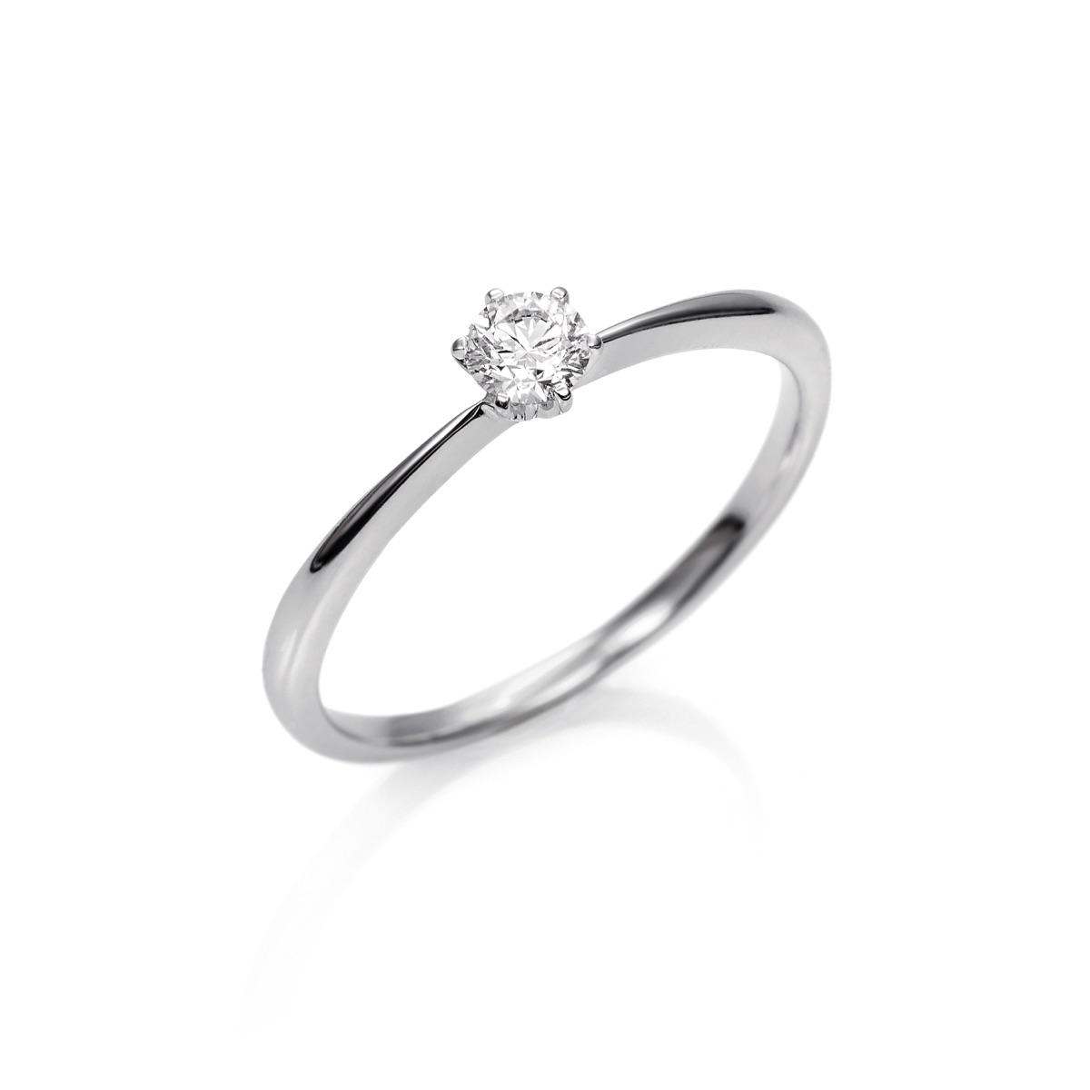 00ab23b93cbb Anillo Solitario de Oro blanco 18kts con Diamante ...