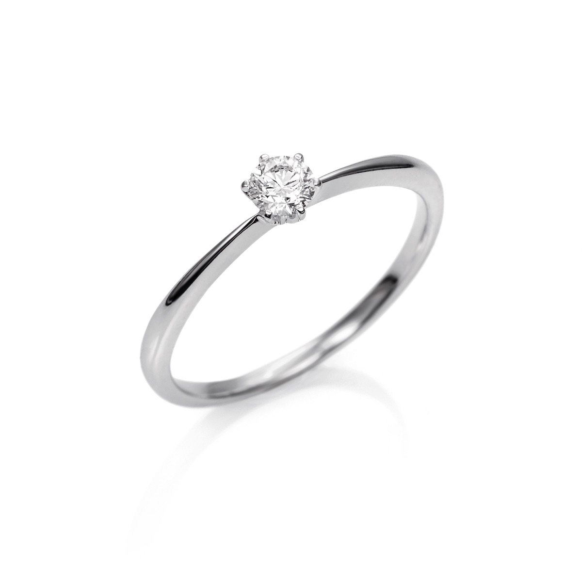 1213c03354f1 Anillo Solitario de Oro blanco 18kts con Diamante ...