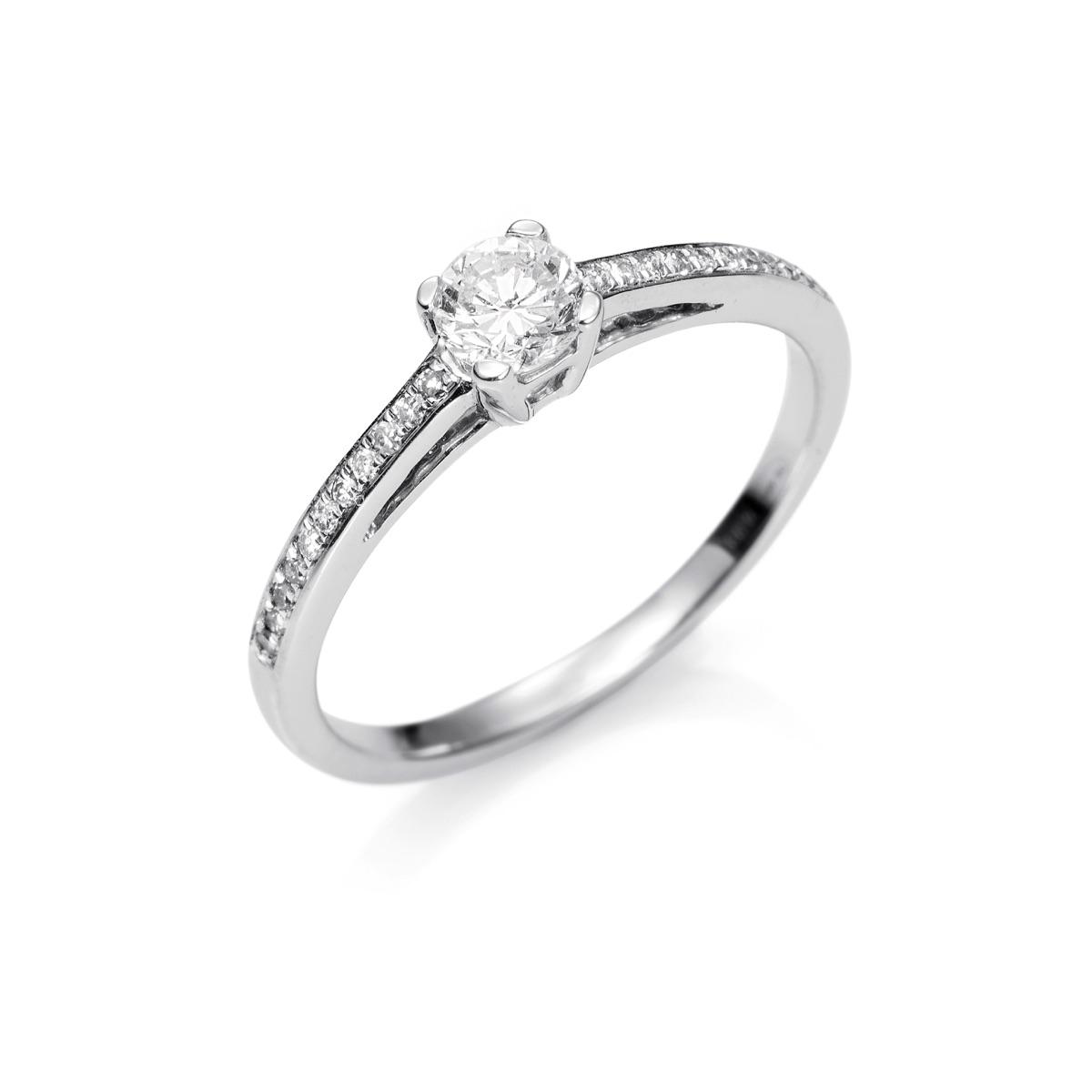 50773ac9b615 Anillo de Compromiso de Oro 18kts con Diamante talla brillante de 0 ...
