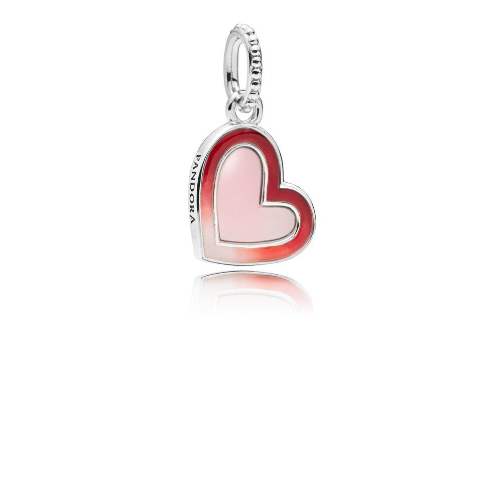 587cd8ac7 *PANDORA Charm colgante en plata de ley Corazón de Amor Asimétrico  797820ENMX