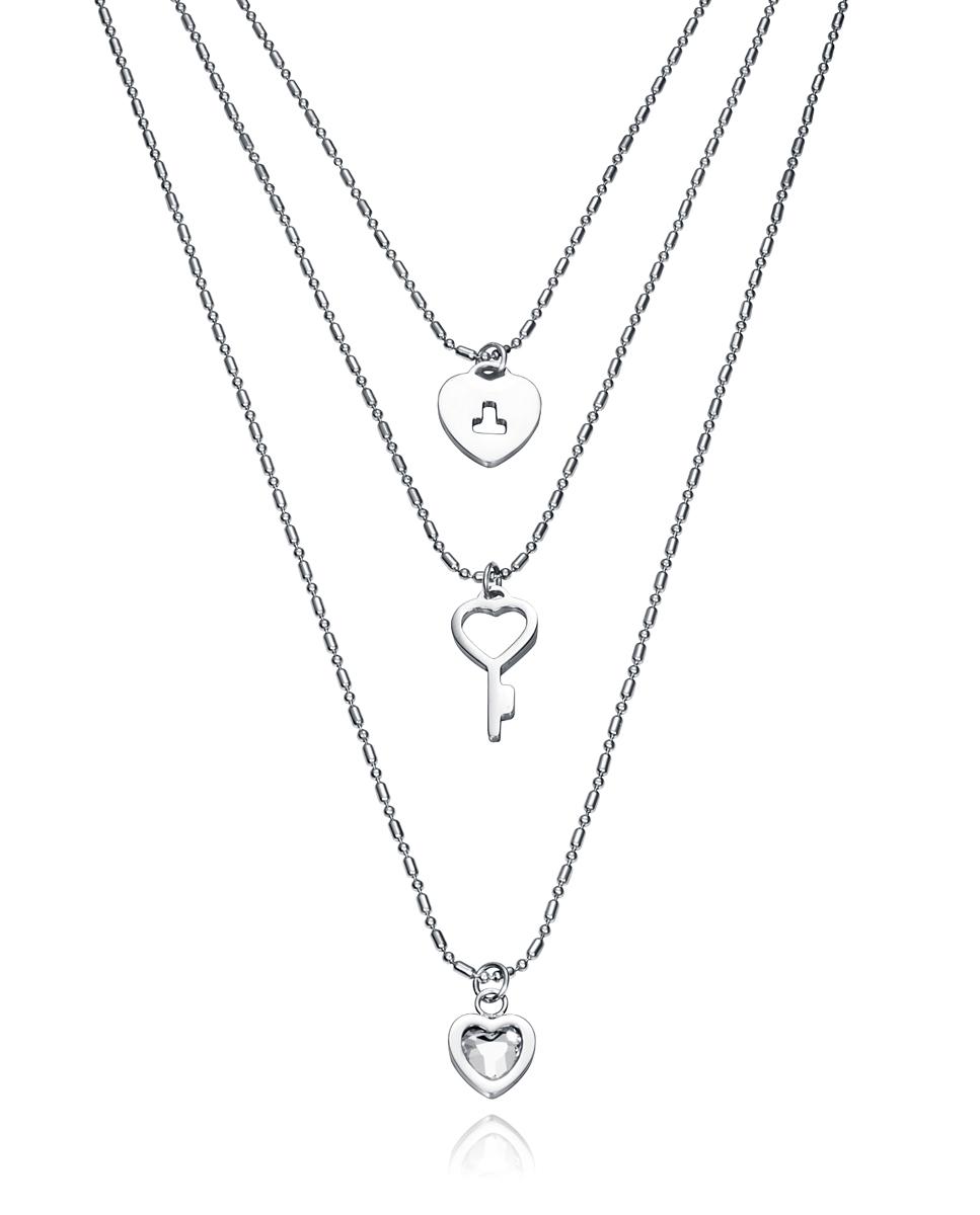 c4afbb097ff0 **VICEROY Collar de Acero triple con colgantes 75105C01000