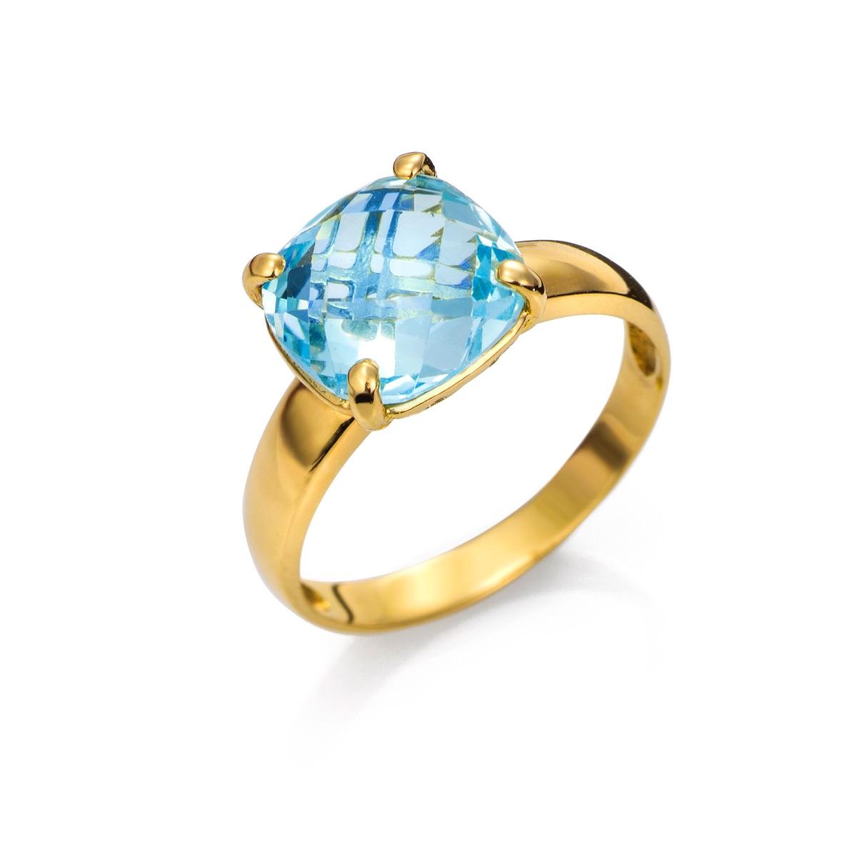 08363b5d89a1 ***Anillo Oro 18Kts con Topacio Azul