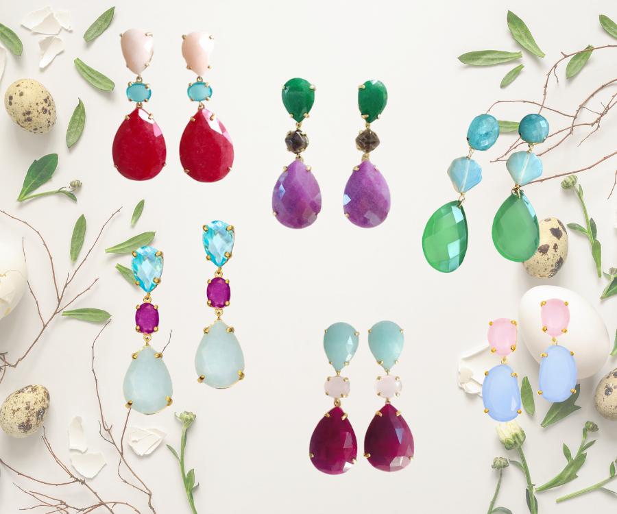 Joyas con piedras de colores